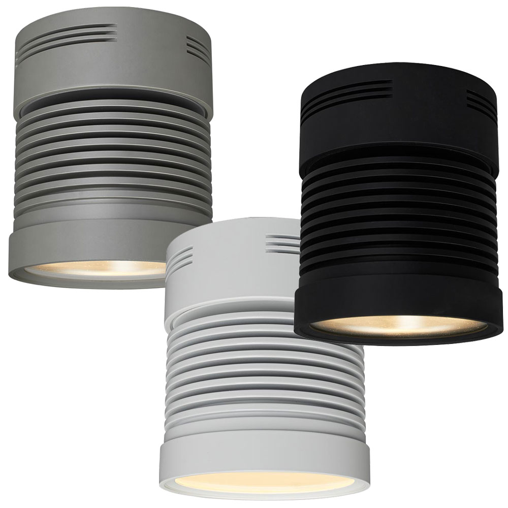 Bruck Z25 Chroma Contemporary 5.4u0026nbsp; Wide LED Surface Mount Cylinder Ceiling  Light. Loading Zoom