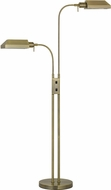 Cal BO-127FL-2L-AB Pharmacy Contemporary Antique Brass Floor Lamp