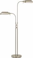 Cal BO-127FL-2L-BS Pharmacy Modern Brushed Steel Floor Light