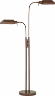Cal BO-127FL-2L-RU Pharmacy Modern Rust Floor Lamp Light