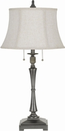 Cal BO-2443TB-AS Madison Antiqued Silver Table Light