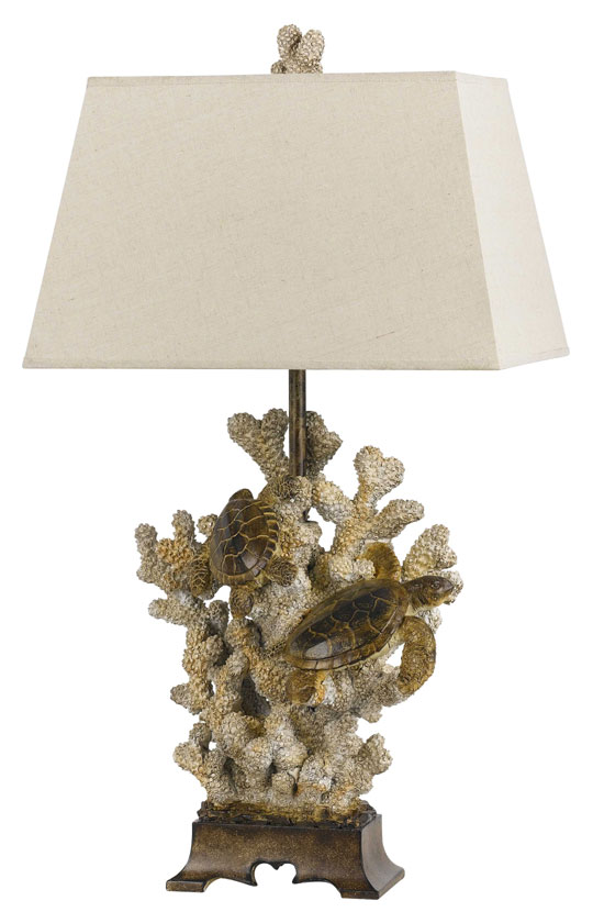 Cal bo 2476tb coastal style 10 inch tall sand stone table for 10 inch table lamps