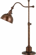 Cal BO-2588TB-RU Portico Rust Desk / Lighting Table Lamp