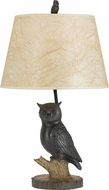 Cal BO-2599TB Owl Country Antique Bronze Table Lamp