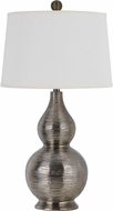 Cal BO-2620TB Contour Metallic Silver Lighting Table Lamp