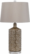 Cal BO-2621TB Distressed Mirror Table Lamp Lighting