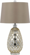 Cal BO-2623TB Antiqued Gold Side Table Lamp