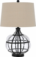 Cal BO-2624TB Blob Iron/Glass Table Lamp