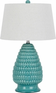 Cal BO-2634TB-2 Aqua Blue Lighting Table Lamp (2 pack)