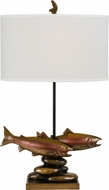 Cal BO-2662TB Trout Rustic Cast Bronze Table Lamp