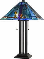 Cal BO-2673TB Tiffany Matt Black Table Lighting