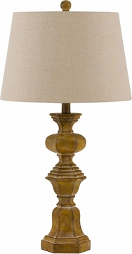 Cal bo 2708tb 2 watford wood table top lamp set of 2 for Table watford