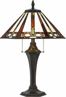 Cal BO-2717TB Tiffany Table Lamp Lighting