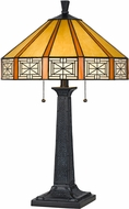 Cal BO-2718TB Tiffany Table Top Lamp