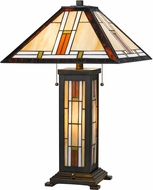 Cal BO-2719TB Tiffany LED Side Table Lamp