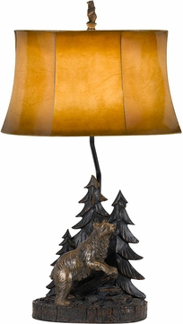 Cal BO-2733TB Forest Country Antique Bronze Side Table Lamp