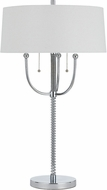 Cal BO-2742TB Lesina Modern Chrome Table Lamp Lighting