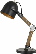 Cal BO-2757DK Binimi Vintage Matte Black / Wood Craft Lamp