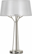 Cal BO-2759TB Lawton Modern Brushed Steel Table Lamp