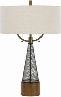 Cal BO-2767TB Lapeer Wood / Black Table Lamp Lighting