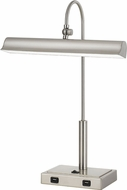 Cal BO-2779DK-BS Novara Modern Brushed Steel LED Reading Light