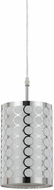 Cal FX-2293-1PL Madrid Contemporary Chrome Mini Drum Pendant Lighting