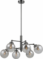 Cal FX-2577-6 Prato Contemporary Gun Metal Chandelier Light
