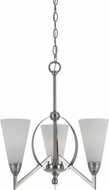 Cal FX-3508-3 Canroe Modern Brushed Steel Mini Chandelier Light