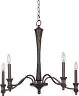Cal FX-3519-5 Lucedale Forged Bronze Chandelier Lighting