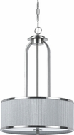 Cal FX-3522-1 Abaco Modern Brushed Steel Pendant Light Fixture