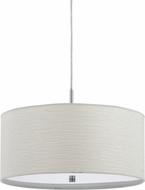 Cal FX-3524-1P Nianda Casual White Drum Hanging Pendant Lighting
