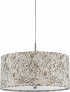 Cal FX-3526-1P Nianda Floral Drum Pendant Hanging Light