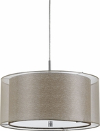 Cal FX-3527-1P Nianda Clear Drum Hanging Light Fixture