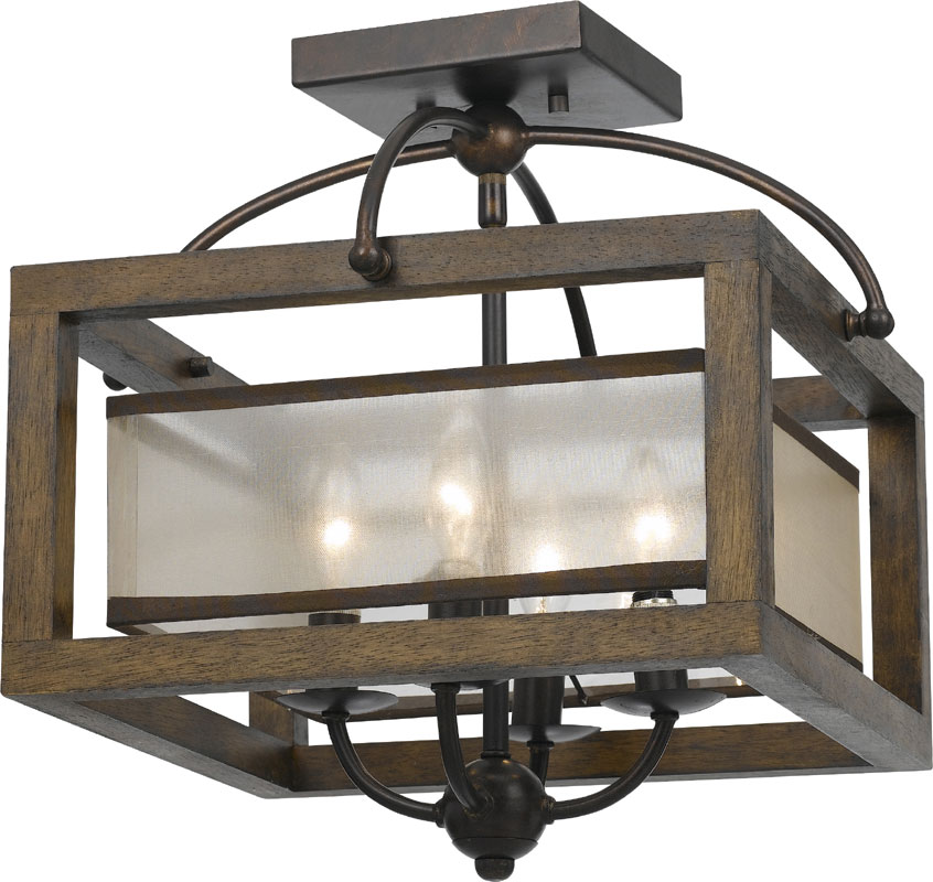 Cal FX-3536-1C Mission Wood Ceiling Lighting. Loading zoom  sc 1 st  Affordable L&s : mission lighting - azcodes.com