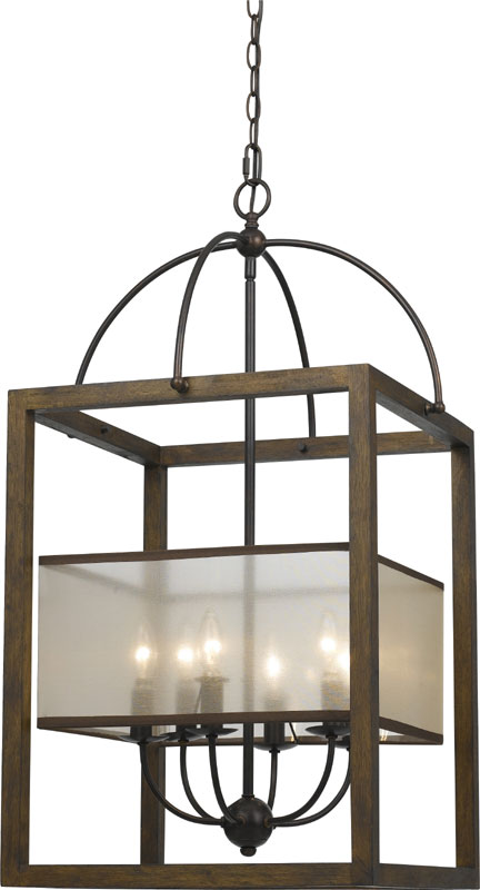 Foyer Lighting Mission Style : Cal fx l mission wood foyer light fixture
