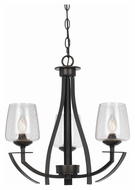 Cal FX-3550/3 Perry Organic Black 22  Tall Chandelier Lighting