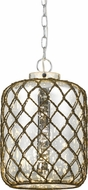 Cal FX-3575-1P Rope Country Glass Mini Lighting Pendant