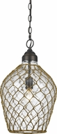 Cal FX-3578-1P Rope Country Glass Mini Hanging Lamp