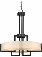 Cal FX-3580-4 Aberdeen Dark Bronze Lighting Pendant