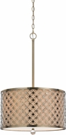 Cal FX-3596-1P Myrtle Contemporary Antiqued Brass Drum Pendant Lighting