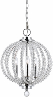 Cal FX-3598-3 Olivia Contemporary Chrome/Glass Foyer Lighting