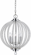 Cal FX-3598-5 Olivia Modern Chrome/Glass Foyer Light Fixture