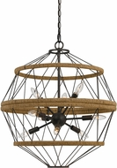 Cal FX-3605-9 Ozark Modern Iron Hanging Pendant Light