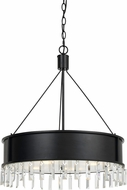 Cal FX-3611-4 Roby Contemporary Iron Drum Drop Ceiling Light Fixture