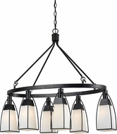 Cal FX-3612-6 Channing Modern Black Island Lighting