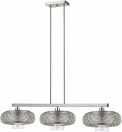 Cal FX-3613-3 Wilshire Modern Brushed Steel Kitchen Island Lighting
