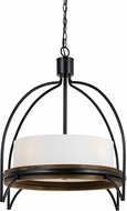 Cal FX-3614-4P Chardon Modern Iron / Wood Lighting Pendant