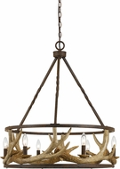 Cal FX-3618-6 Antler Country Rust Chandelier Lighting