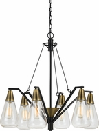 Cal FX-3623-6 Ellyn Contemporary Antique Brass Ceiling Chandelier