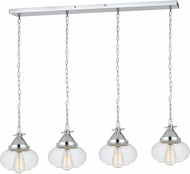 Cal FX-3624-4P Maywood Contemporary Chrome Multi Drop Lighting